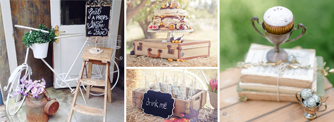 Moi Decor Wedding Hire Vintage Rentals with teacups and birdcages